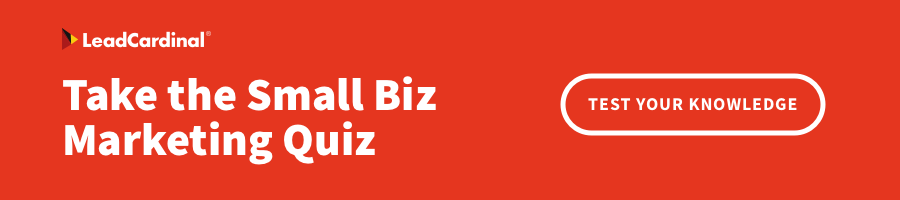 LeadCardinal Small Biz Marketing Quiz